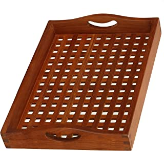 Bare Decor Onsen Spa Tray Solid Teak Wood, Brown