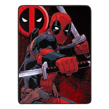 "Marvel's Deadpool, ""Swordsman"" Micro Raschel Throw Blanket, 46"" x 60"", Multi Color"