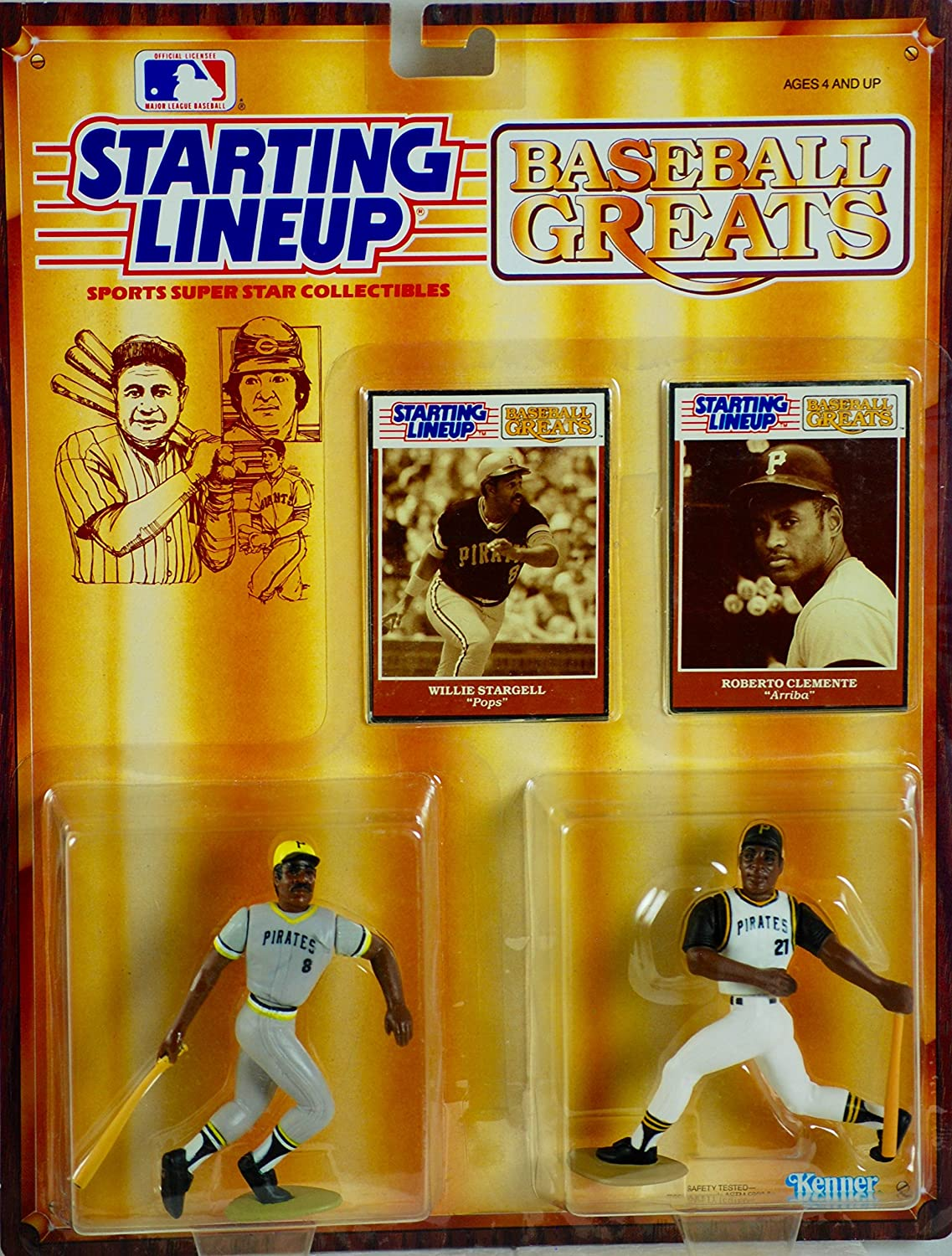 Starting Lineup Baseball Greats Willie Stargell and Roberto Clemente