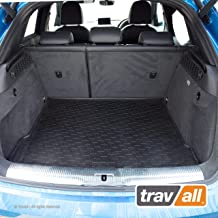 Travall Liner Compatible with Audi Q3 (2011-2018) and RS Q3 (2013-2018) TBM1073 - All-Weather Black Rubber Trunk Mat Liner