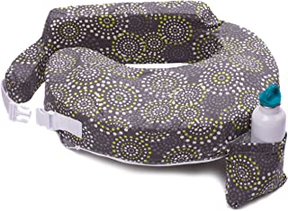 My Brest Friend Original Nursing Posture Pillow, Grey & Yellow Fireworks