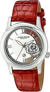 Akribos XXIV Women's Lumin Analogue Display Japanese Quartz Watch with Leather Strap