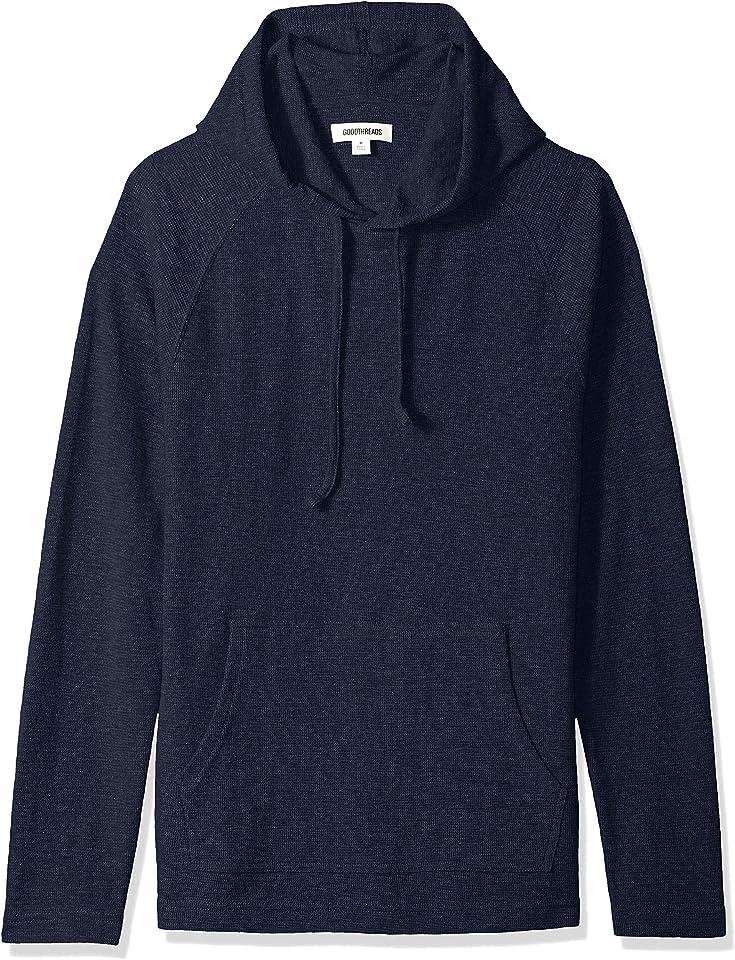 Amazon Brand - Goodthreads Men's Long-sleeve Slub Thermal Pullover Hoodie