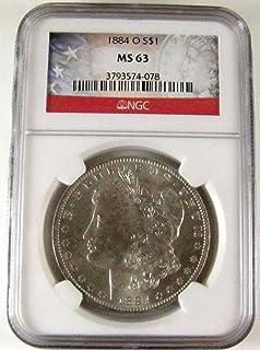 1884 O Morgan Silver Dollar $1 MS63 NGC