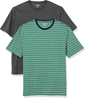 Amazon Essentials Men's 2-Pack Loose Fit Short-Sleeve Crewneck T-shirt