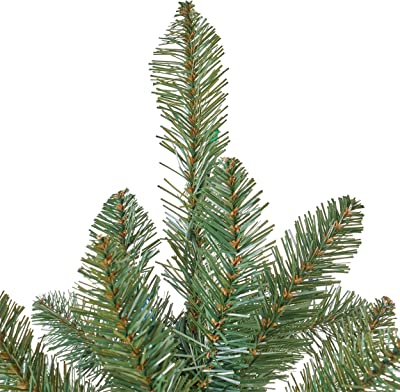 7.5-foot Norway Spruce Pre-Lit Multi-Colored Light Hinged Artificial Christmas Tree