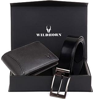 Oliver Brown Leather Wallet and Classic Belt Combo for Men (Jade Black)