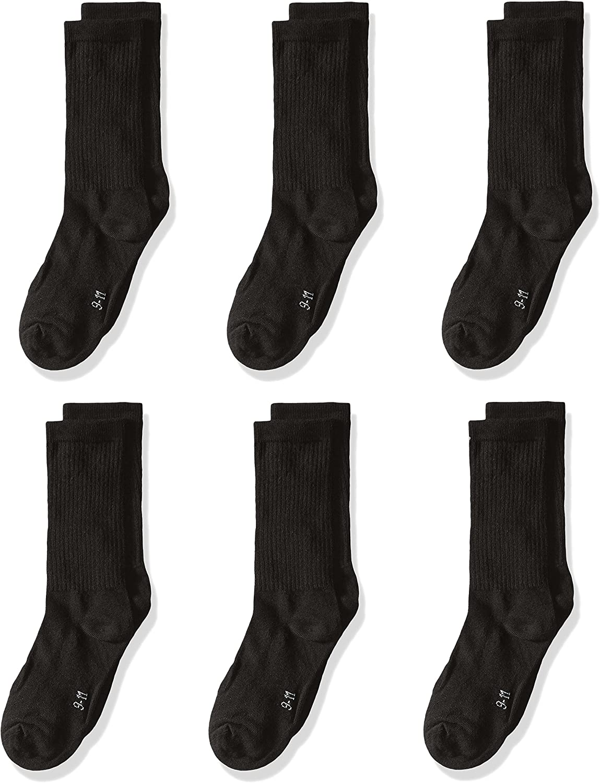trimfit Boys Big 6 Pack Cotton Rib Crew Socks comfortoe