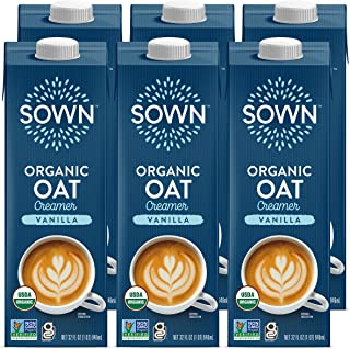 SOWN Organic Oat Creamer Vanilla - Barista Oat Milk Non Dairy Coffee Creamer - Plant Based, Dairy-Free, Vegan, Gluten-Free...