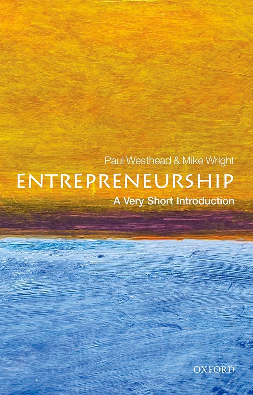 矛盾する内部ネクタイEntrepreneurship: A Very Short Introduction (Very Short Introductions) (English Edition)