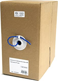 StarTech.com 1000ft CAT5e Ethernet Cable - Blue - Bulk Roll - Solid UTP Cable - CMR Rated - Box of CAT5e Network Wire Cable (WIRC5ECMR)