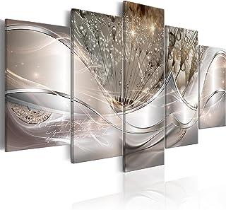murando Impression sur Toile intissee Abstrait Fleurs 100x50 cm 5 Parties Tableau Tableaux Decoration Murale Photo Image A...