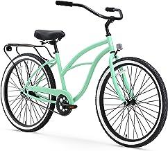 "sixthreezero Around The Block Women's Single-Speed Beach Cruiser Bicycle, 26"" Wheels, Mint Green..."