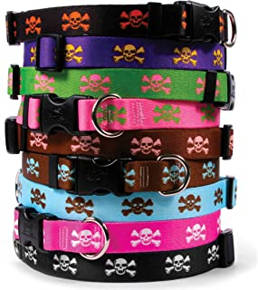 Skull & Crossbones Dog Collar - with Tag-A-Long ID Tag System