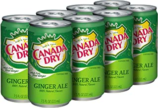 Canada Dry Ginger Ale, 7.5oz Mini Can (36 Cans)
