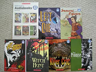 System 44 Library Audiobooks and Paperbacks 25-30 (Left to Die, Samurai Fighters, Ant Attack, Witch Hunt, Killer Croc, The Promise)