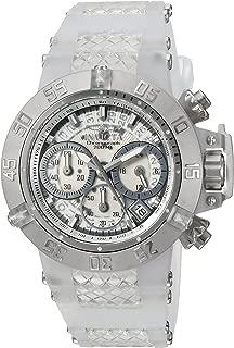 Invicta Women's Subaqua Stainless Steel Quartz Watch with Silicone Strap, White, 14 (Model: 24372)