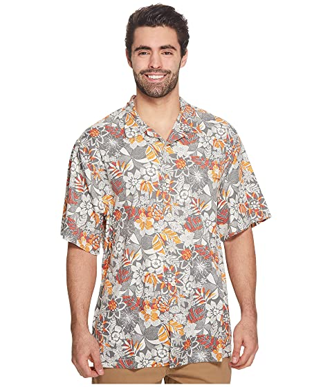 Affordable Tommy Bahama Big & Tall Big & Tall Subtropical Palm IslandZone Camp Shirt Pebble Grey Outlet View Limited Edition Cheap Online Free Shipping Newest For Sale Online YNqUTe