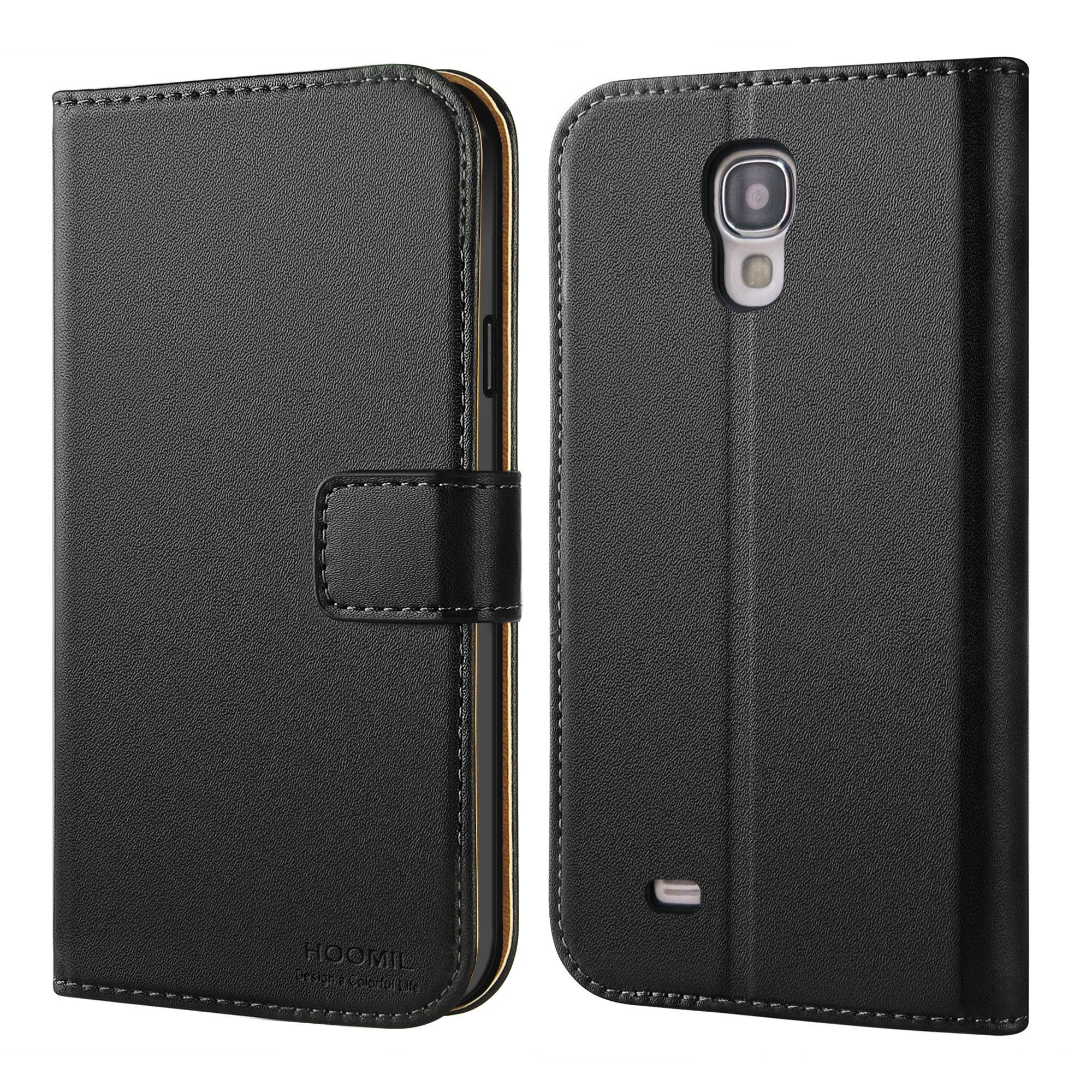 HOOMIL Funda para Samsung Galaxy S4, Funda de Cuero PU Premium Carcasa para Samsung Galaxy S4 (Negro): Amazon.es: Electrónica