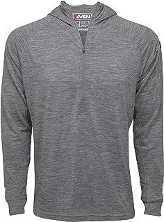 Clothing Men's Merino Wool Hoodie - Mid-Weight 230 GSM - Wicking Breathable Anti-Odor - Half Zip