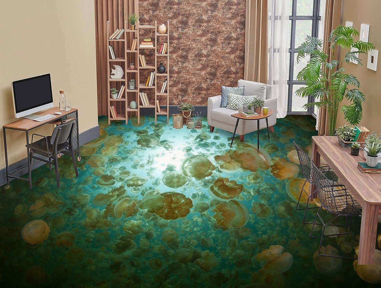 AJ WALLPAPER 3D Jellyfish 0607 gift Wall 40% OFF Cheap Sale Wallpaper Print Murals Floor
