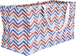 Household Essentials 2216 Krush Canvas Utility Tote   Reusable Grocery Shopping Bag   Laundry Carry Bag   Chevron