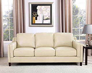 Hydeline Bella 100% Leather Set, Sofa, Ivory