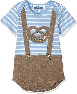 P. Eisenherz Trachten Baby Body - Lederhose Lausbub - blau