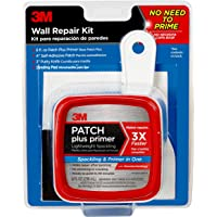 3M 8 fl. oz Patch Plus Primer Self-Adhesive Patch, Putty Knife and Sanding Pad Wall Repair Kit