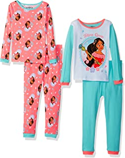 Disney Elena of Avalor - Pijama de algodón para niña (4 Piezas)