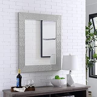 Naomi Home Mosaic Style Wall Mirror Silver