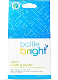 BOTTLE BRIGHT Biodegradable All Natural Effervescent Bottle Cleaning Tablets, 10 Count