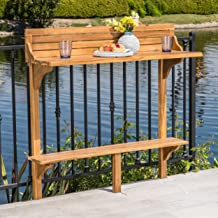 Christopher Knight Home 304144 Caribbean Balcony Bar Table, Natural Stained