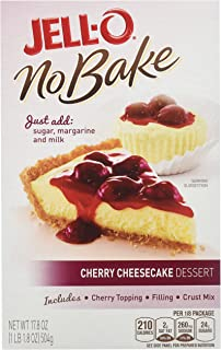 JELL-O Cherry No Bake Cheesecake Dessert (17.8 oz Boxes, Pack of 6)