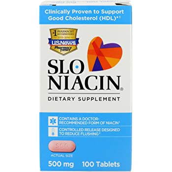 Slo-Niacin Dietary Supplement 500 mg Tablets 100 Tablets