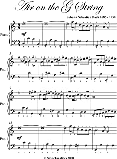 Air on the G String Bach Easy Piano Sheet Music