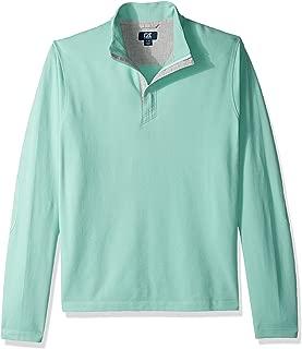 Cutter Men's Hewitt Lightweight Honeycomb Textured Half-Zip Sweatshirt