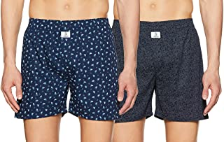 Longies Men's Printed Boxers (Pack of 2)