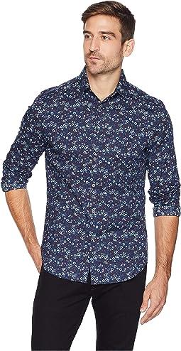 Stretch Multicolor Floral Print Shirt