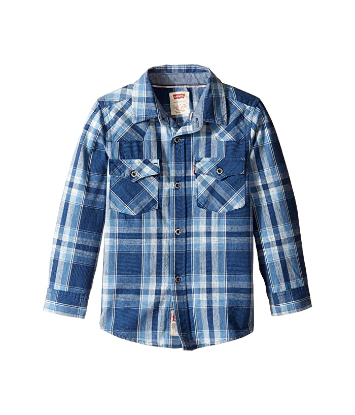 Levi S Reg Kids Barstow Plaid Western Shirt Little Kids