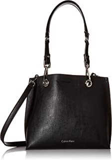 Faux Leather Reversible East/West Tote