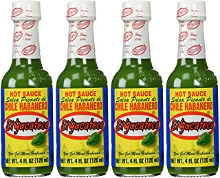 El Yucateco Sauce Habanero Green Hot - 4 Ounce (Pack of 4)
