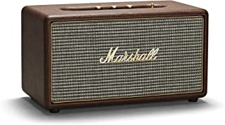 Marshall Stanmore Bluetooth Speaker, Compact Active Wireless Stereo Speaker with Larger Than Life Customisable Sound, Brown