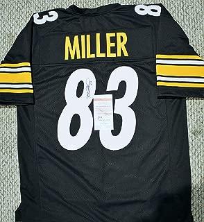 heath miller autographed jersey