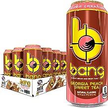 BANG Energy Drink Georgia Peach Sweet Tea , 16 oz Cans (12 Pack)