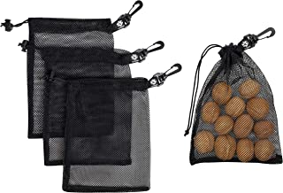 Mesh Drawstring Bag With Carabiner Clips - Set of 4 (7 x 9 inch)