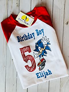 Sonic The Hedgehog Birthday Shirt With Name And Digit Formtech Inc Com