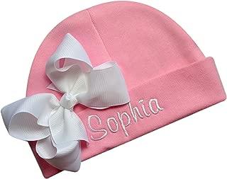 monogrammed newborn hat