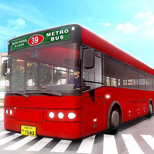 市のバスを公共交通機関のシミュレータを運転するタイクーン:フレンジードライバートランスポートドライビング&駐車ゲーム子供のための無料