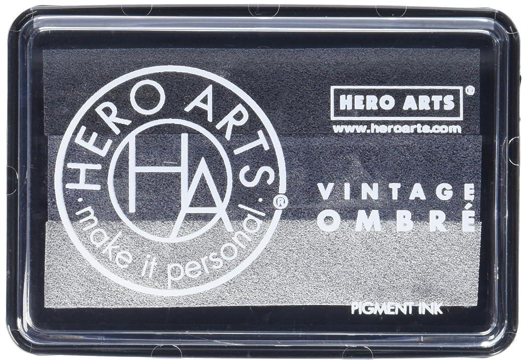 Hero Arts Ombre Ink Pad-Vintage Metallic Steel